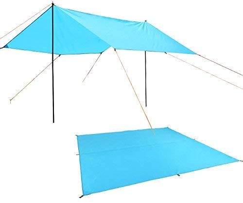 UK Tent Tarp Rain Sun Shade Hammock Shelter Waterproof Camping Picnic Pad Mat