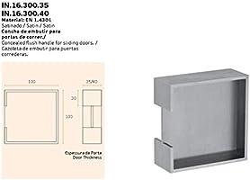 Tirador para puertas correderas JNF de acero inoxidable, art. IN.16.300 de 35 mm de grosor de la puerta: Amazon.es: Bricolaje y herramientas