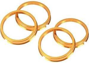 ●KYO-EI●ツバ付 ハブリング●2個 [1SET]●67mm→54mm●ゴールドアルマイト仕上げ●軽合金製●超軽量ジュラルミン●