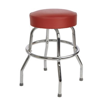 Richardson Seating Retro 1950s Backless Swivel Bar Stool with Wine Seat - 24''