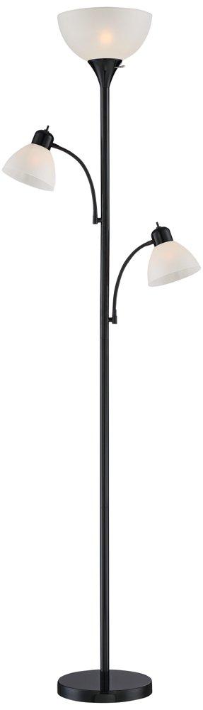 Bingham Black Tree Torchiere 3-Light Floor Lamp