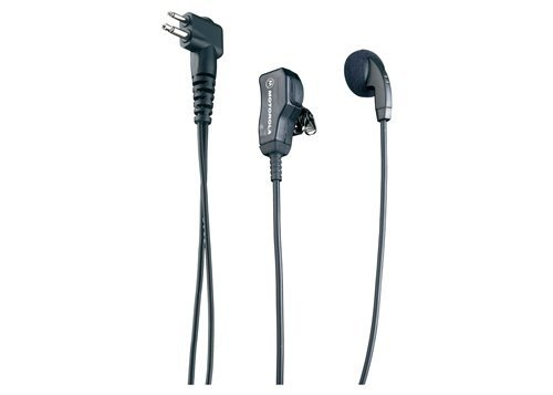 Motorola Original OEM HMN9036 HMN9036A Earbud with Clip Microphone & PTT - Compatible with: CLS1110, LS1410, CP110, CP200, CP200XLS, GP300, PR400 ()