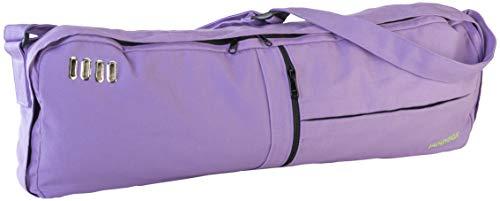 Jade Yoga - Macaranga Mat Bag - Organic Cotton Mat Carrier with Adjustable Shoulder Strap (Color: Lavender)