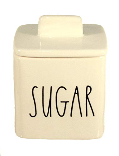 - Rae Dunn Sugar Bowl Jar Canister Small Square Large Letter LL Pottery