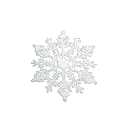 Dds5391 Popular 12Pcs Fake Snowflake Christmas 10cm Glitter Ornament Tree Party Window Decor - White