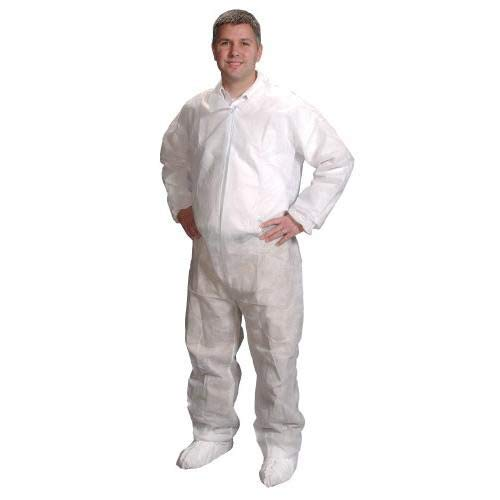 Alpha Protech Coverall - Alpha Pro Tech Critical Cover CV-14032-7 GenPro Coveralls, Elastic Wrist, Ankle and Back, Serged Seams, White, 4X Size (Case of 25)