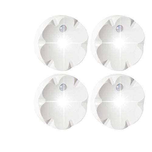 SZOKLED Motion Sensor Under Cabinet Light Battery Powered, Wireless Under Counter Light Fixtures, LED Closet Light Bar, Stick on Anywhere 10 LED Night Light for Hallway Kitchen and Gun Safe, 4 Pack