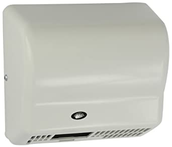 "Impact 4065 Touchless Hand Dryer, 120V, 1500W, 10-1/8"" Length x 9-3/8"" Height x 5-3/8"" Depth, White ABS Plastic"