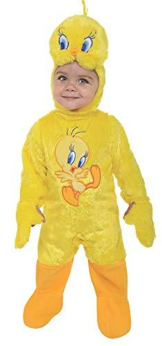 Looney Tunes Tweety Bird Romper Costume, Yellow, 6-12 -