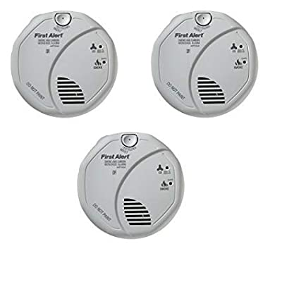 Image of First Alert SCO5CN Combination Smoke and Carbon Monoxide Alarm, Battery Operated (3 PACK)