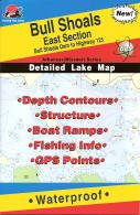 Bull Shoals East Section Fishing Map - Bull Shoals Dam to Highway 125 (Arkansas Fishing Series, L171)