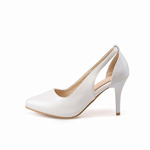 Carolbar Womens Pointed Teen Bridal High Heels Stilettos Dress Shoes White