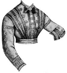 Bretelles Costume (1868 Waist with Simulated Bretelles Pattern)