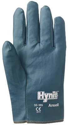 Ansell 012-32-105-9 Hynit Nitrile-Impregnated Gloves - Size ()