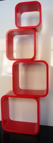 retro floating shelves bookcase cube shelving red cubes lo02r rh amazon co uk ikea red cube shelves red cube storage shelves