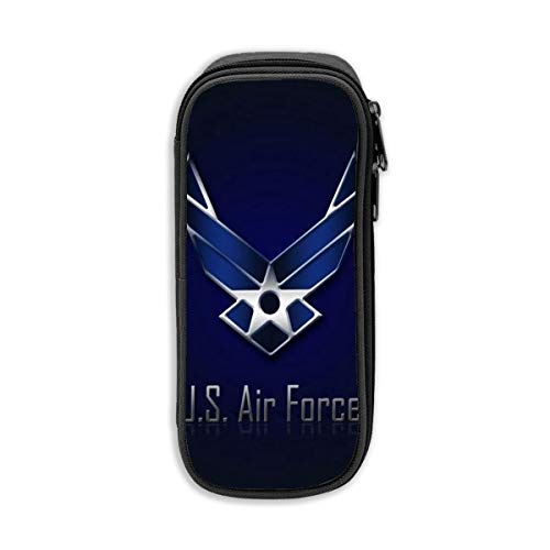 U.S. Air Force Sign Darkness Pencil Case Big Capacity Storage Polyester Bag Holder Pen Pencil Desk Marker Stationery Organizer Pouch with Zipper for School Office