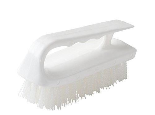 Abco Products Plastic Block Hand Iron Style Scrub Brush Polyester Bristles, 6