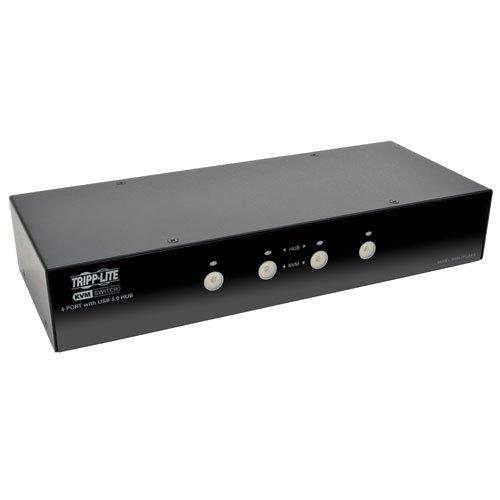 TRIPP LITE 4-Port DisplayPort KVM Switch with Audio, Cables & USB 3.0 Hub (B004-DPUA4-K) ()