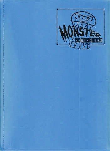 Monster Binder - 9 Pocket Trading Card Album - Matte Sky Blue (Anti-theft Pockets Hold 360+ Yugioh, Pokemon, Magic the Gathering Cards)