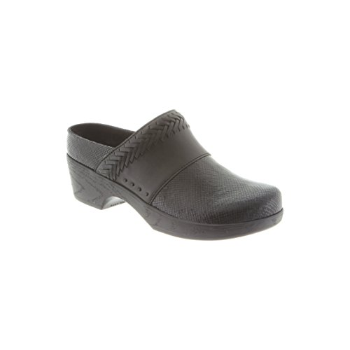 Klogs Chaussures Femmes Astoria Sabot Noir Carré