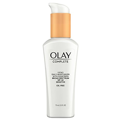 Face Moisturizer by Olay Complete Daily Defense All Day Moisturizer With Sunscreen & Sun Spot Remover SPF30 Sensitive Skin, 2.5 fl. Oz., (Pack of 2)