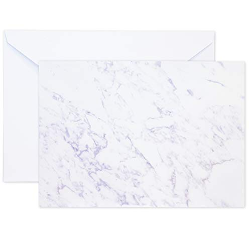 Invitation Paper 50-Pack Double Sided Gray Marble Granite Invitation Paper for Wedding Announcements, Party Invites, Graduation, Envelopes Included - 5 x 7 Inches -
