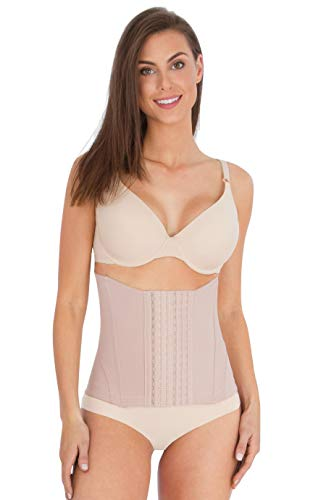 Belly Bandit Mother Tucker Corset Slimming Shapewear with Double Compression - Nude, Small