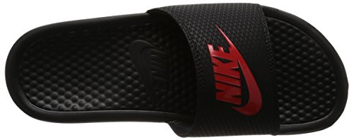 Nike Mens Benassi Just Do It Synthetic Sandals Rojo/Negro/Negro