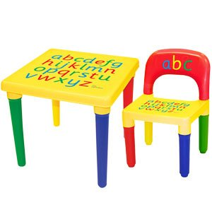 NEW Alphabet Table \u0026 Chair Set  sc 1 st  Amazon UK : baby table chair set - pezcame.com