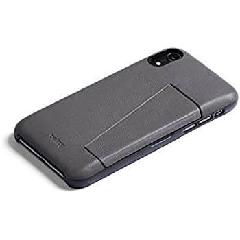 Bellroy Leather iPhone XR Phone Case - 3 Card - Graphite