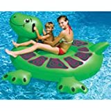 Swimline 90622 Swimming Pool Kids Inflatable Giant Rideable Turtle Float Toy 74""
