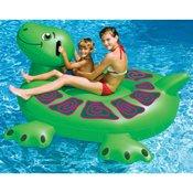 Swimline 90622 Swimming Pool Kids Inflatable Giant Rideable Turtle Float Toy (Inflatable Turtle Pool Toy)