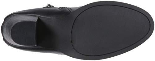 Ankle Bootie Boot Edyn Side Block Zipper Smooth Black Women's Studded Casual Heel Rampage w1FSzWqUz