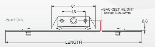 S Pvc fenêtre serrures Espag mécanisme-inline 600 mm 22mm B