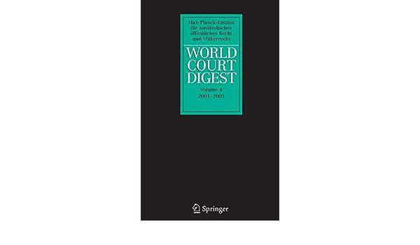 World Court Digest 2001 - 2005