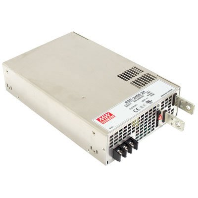 Mean Well RSP-2400-24 AC to DC Power Supply, Single Output, 24 Volt, 100 Amp, 2.4K Watt, 10.9