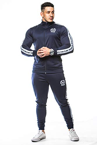 price remains stable closer at latest sale Muscle Works Gym Mens Slim Fit Designer Tracksuits Full Gym ...