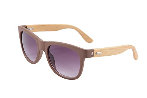 SHINU Wayfarers UV400 Wood Sunglasses with Bamboo Temples PC Frames-6103 (brown, gradient - China Sunglasses Men For From
