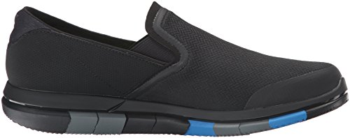 Skechers Prestaties Heren Gaan Flex Slip-on Walking Schoen Zwart / Blauw
