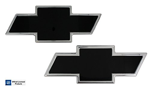 All Sales 2007(NBS)-2013 Chevrolet Silverado 1500 Black Insert/Polished Edge Front Grille & Liftgate Emblem Set by AMI