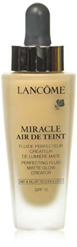Lancome Miracle Air De Teint Perfecting Fluid Matte Glow Creator SPF 15, No. 01 Beige Alb, 1 Ounce