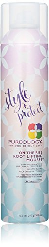 Pureology | Style + Protect On The Rise Root-Lifting Hair Mousse | Medium Control, All Day Volume | Vegan | 10.4 oz.