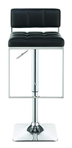 Adjustable Bar Stool Chrome and Black