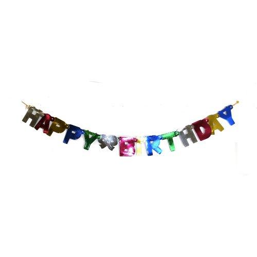 Metallic Happy Birthday Banner - 4ft Metallic Happy Birthday Banner