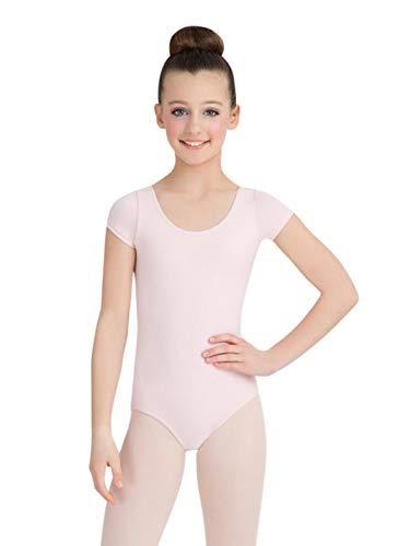 Capezio Little Girls' Classic Short Sleeve Leotard,Pink,S (4-6) - Capezio Short Sleeve Leotard