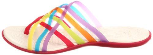 db5dd7538bcf Crocs Ladies Sandals Huarache Flip-Flop Multi Geranium Multi Geranium 2 UK  2E