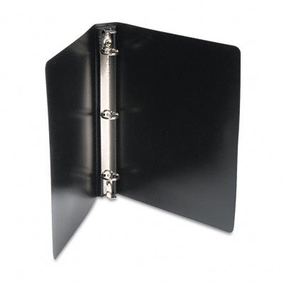 Wilson Jones DublLock Hanging Round Ring Poly Binders, 1-Inch Capacity, 8.5 x 11 Inch Sheet Size, Black, 12 Binders (1 Case) (W390-14B)