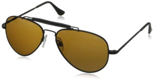 Randolph Sportsman SP72412 Aviator Sunglasses,Matte Black,57 - Sportsman Randolph Sunglasses