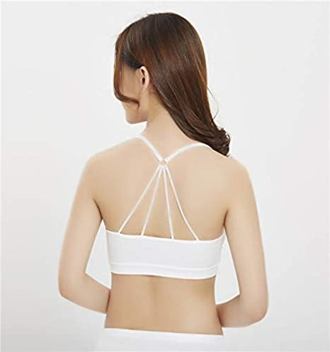 CUSHY 2018 New Female Yoga Top Fitness Arc Neckline Yoga Shirts Women Withpad Fitness Shirt a Running Back Top: White at Amazon Womens Clothing store: