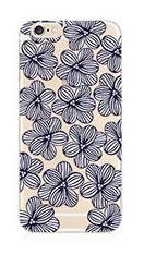 (Deco Fairy Flexible Silicone Case Cover Compatible for iPhone 6 Plus / 6S Plus - Floral Flower Blue Iris Sweet Pea)
